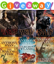 Anthony Ryan Deluxe Package Giveaway (International)
